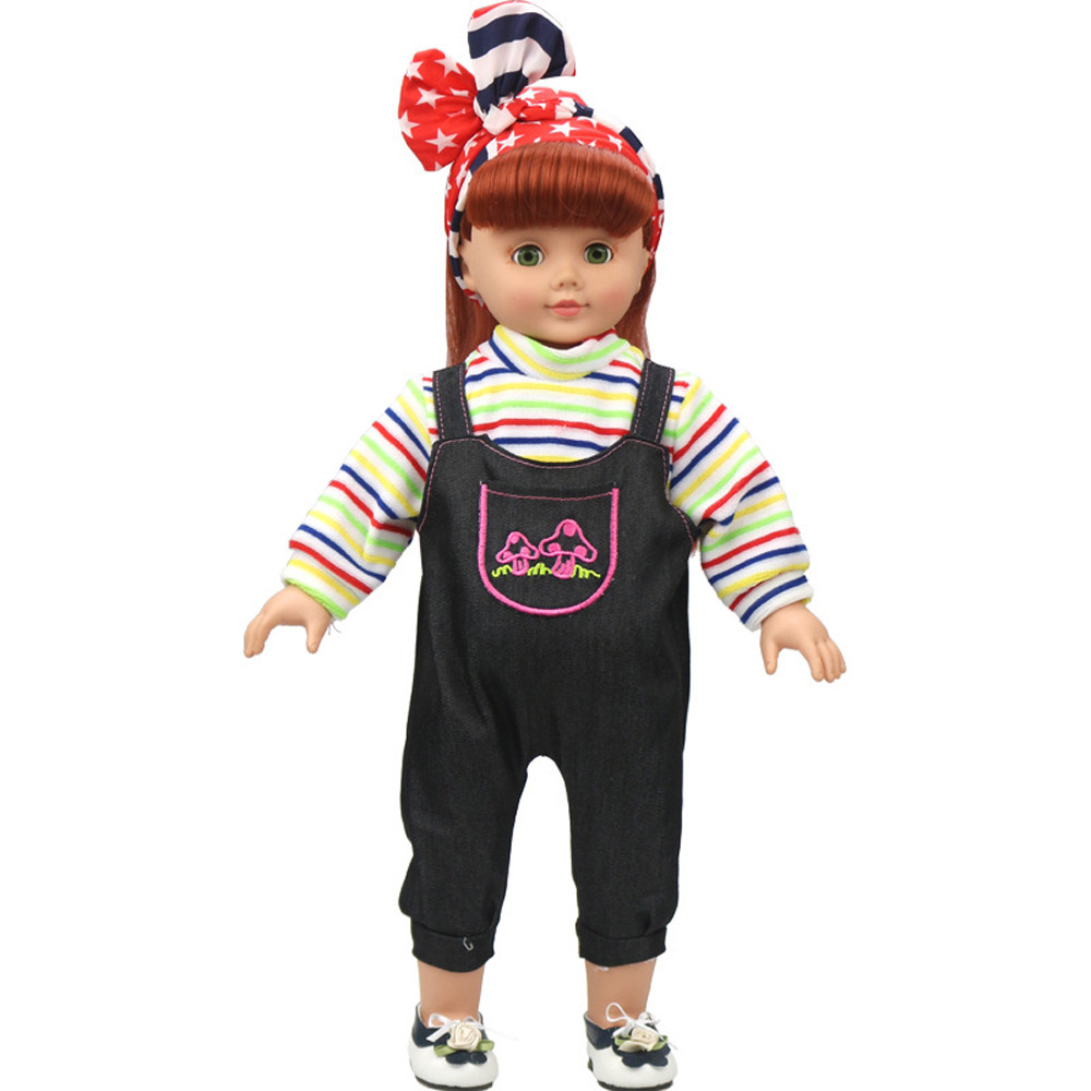 Mosunx DIY Doll Clothes Dress For 18 inch Doll Baby Kids Gifts Jumpsuit Party Clothes