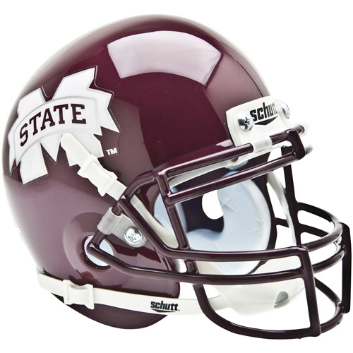 Shutt Sports NCAA Mini Helmet, Mississippi State Bulldogs