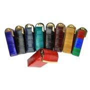 Eel skin cigarette case holder hard case Burgundy