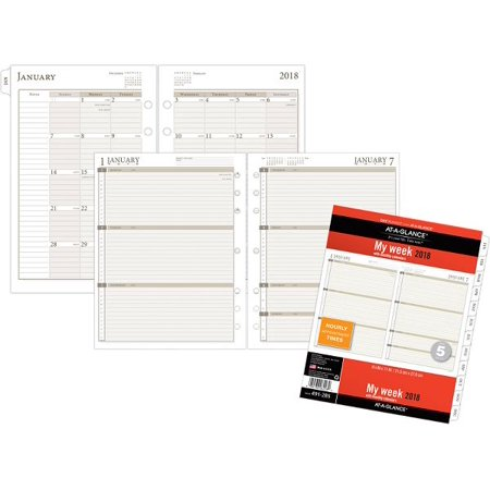 At-A-Glance Day Runner Weekly Calendar Planner Refill Size 5 - Loose-Leaf