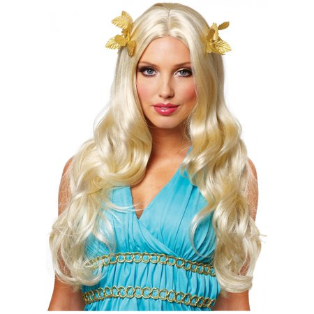 Womens Greek Goddess Halloween Wig - Blonde