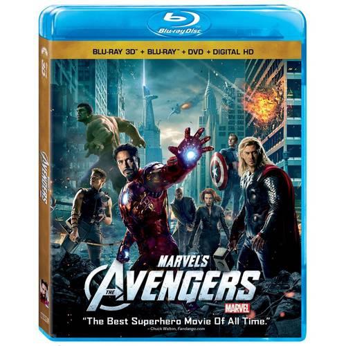 The Avengers (Blu-ray 3D + Blu-ray + DVD + Digital HD)