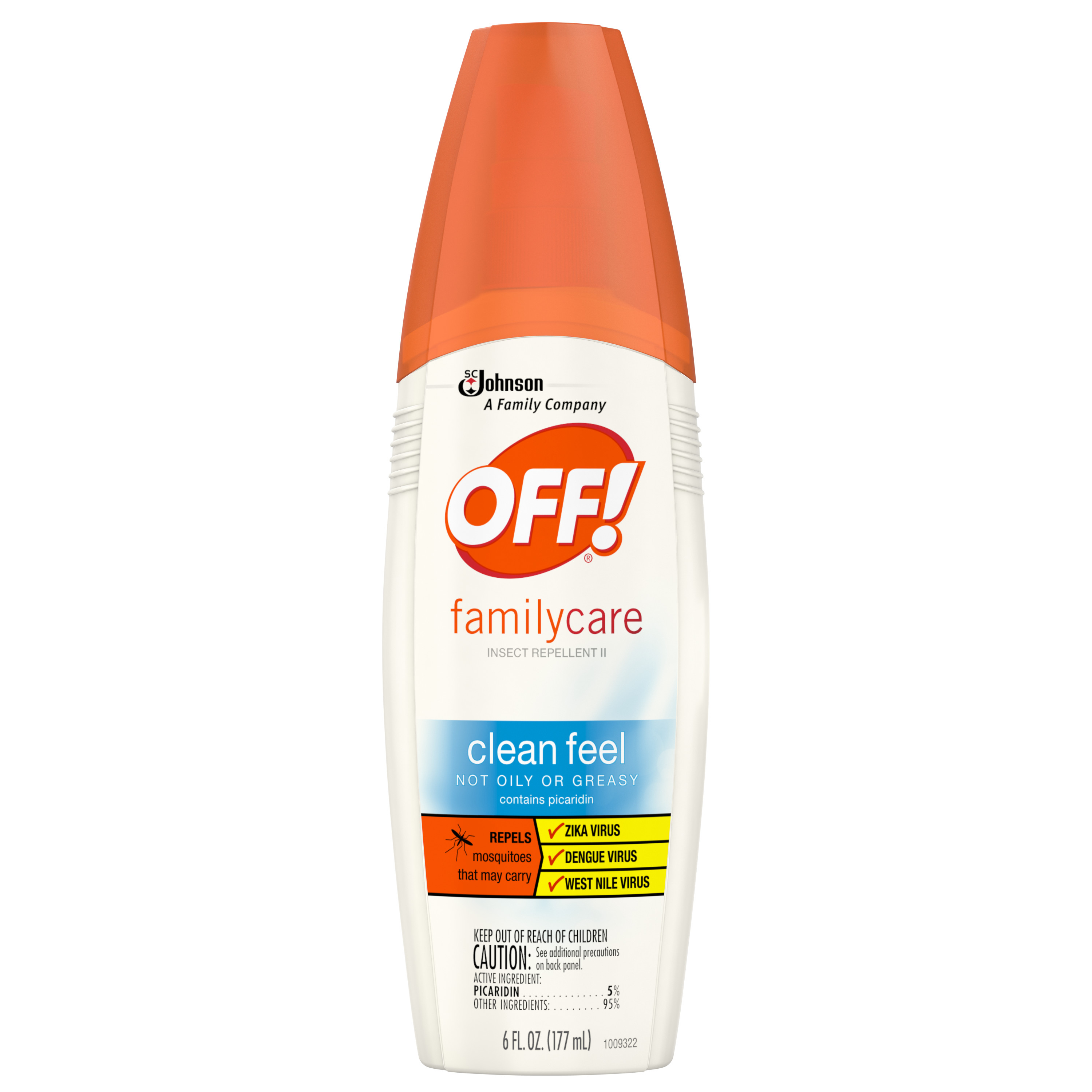 OFF! FamilyCare Insect Repellent II Clean Feel, 6 Fluid Ounces
