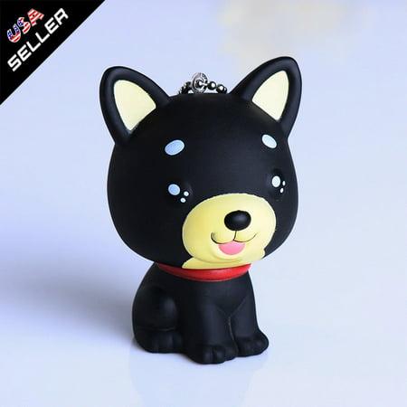 Black Fashion Cute Dog Keychain Keyring Handbag Accessory Charm Pendant Gift