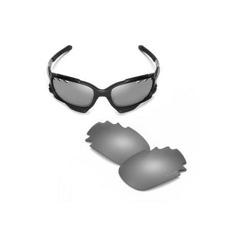 632b6a7bc7b Walleva - Walleva Titanium Mr. Shield Polarized Vented Replacement Lenses  for Oakley Jawbone Sunglasses - Walmart.com