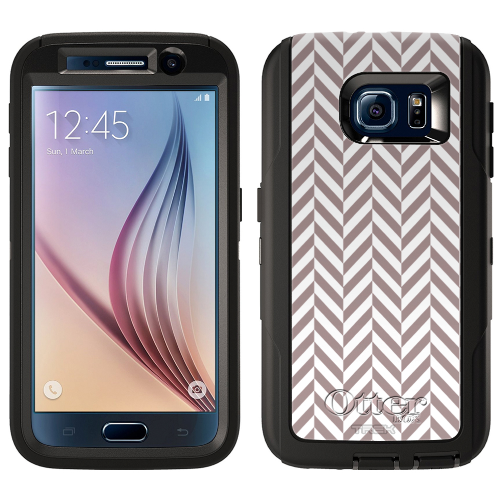 OtterBox Defender Samsung Galaxy S6 Case - Chevron Mini Brown White OtterBox Case