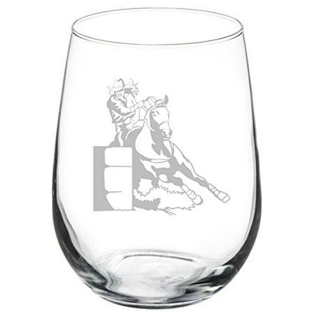 Wine Glass Goblet Female Barrel Racing Cowgirl (17 oz