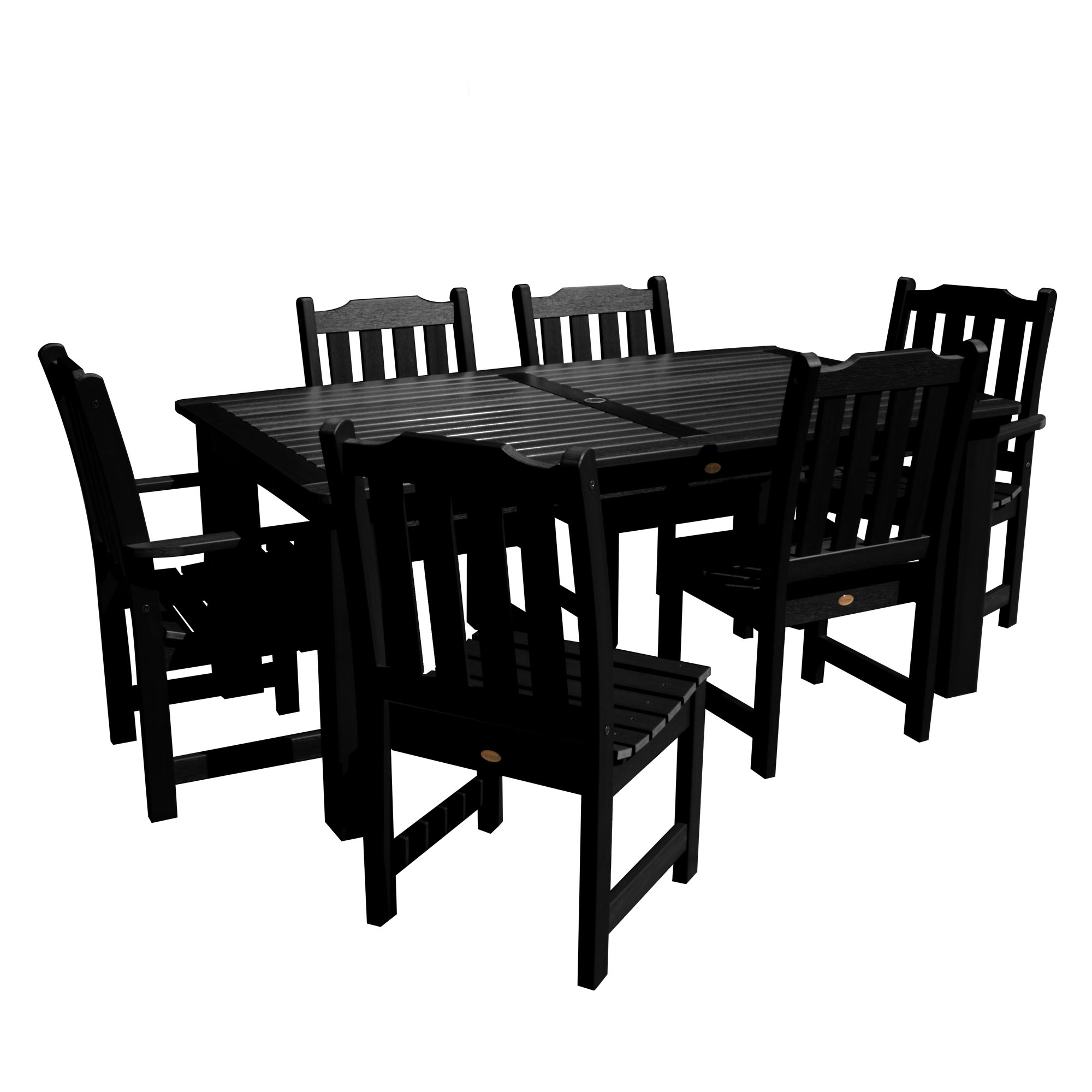 "highwood® Lehigh Eco-Friendly 7pc Rectangular Dining Set 84"" x 42"""