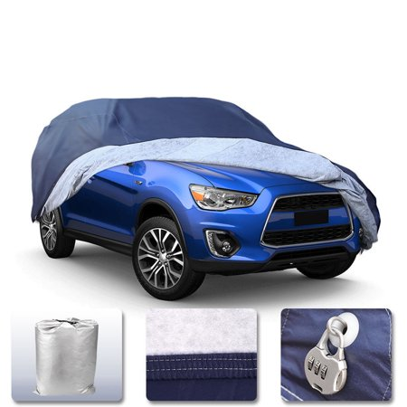 SUV Full Car Cover Waterproof W/Lock Breathable Protection Fit for Ford Escape 2001-2018, PEVA,Dark Blue ()