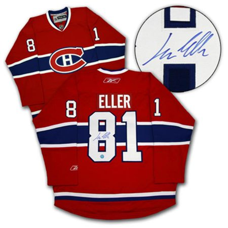 AJ Sports World ELLL105000 LARS ELLER Montreal Canadiens SIGNED NHL Premier Hockey JERSEY by