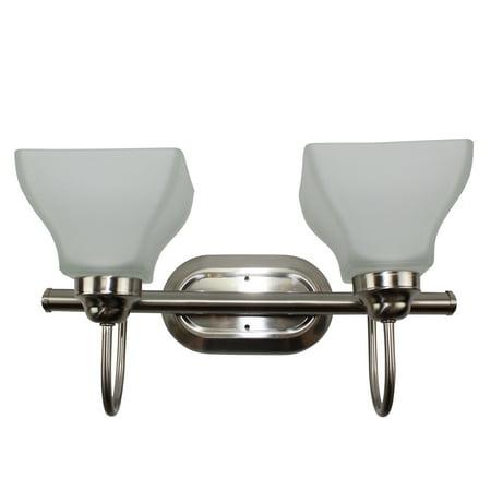Dogwood Seven Seas Lighting Vl7622-GU BN 2-Light Vanity Fixture Brushed Nickel With Frosted (Bn Brushed Nickel Sb)