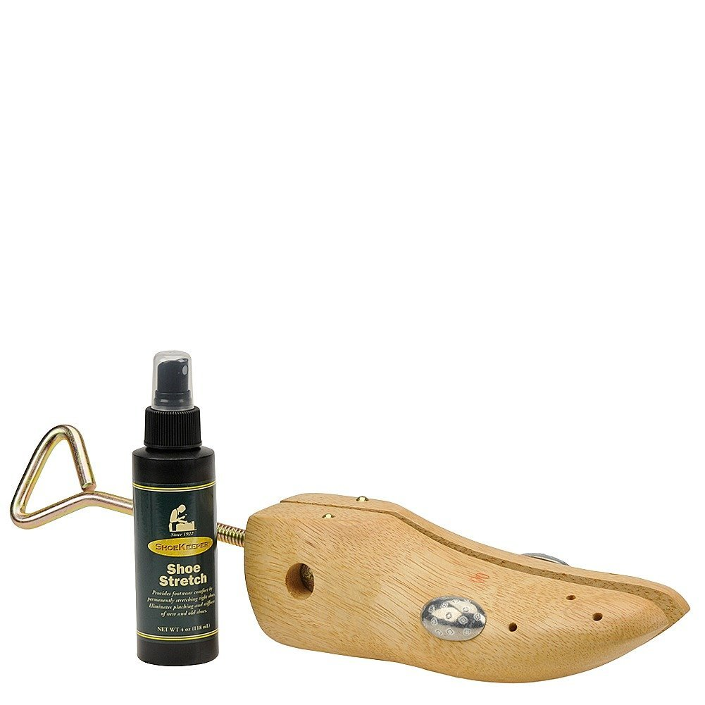 Shoekeeper Wooden Shoe Stretcher and Stretch Spray Combo Natural by ShoeKeeper