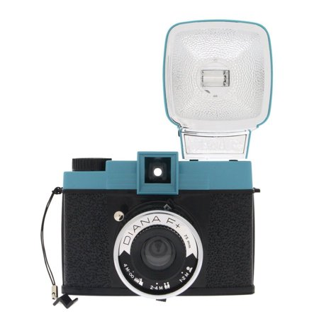 - LOMOGRAPHY DIANA F+ MEDIUM FORMAT (120) CAMERA, REMOVABLE 75mm LENS, ZONE FOCUSING SYSTEM, PINHOLE FUNCTION, TWO SHUTTER SPEEDS, ENDLESS PANORAMA MODE, MULTIPLE & PARTIAL EXPOSURE OPTIONS