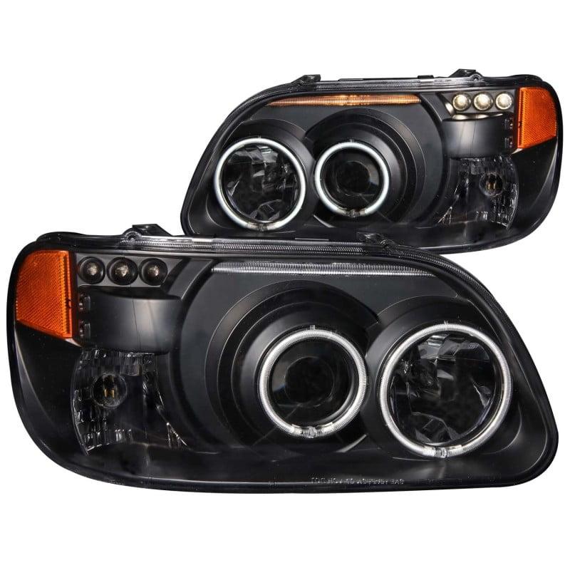 ANZO 1995-2001 Ford Explorer Projector Headlights w/ Halo Black 1 pc