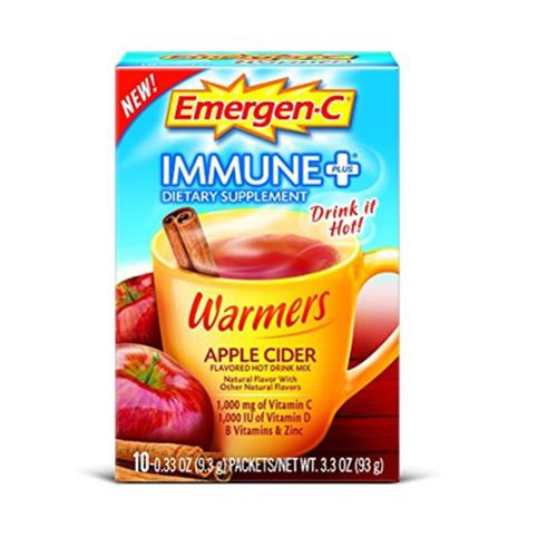 Emergen-C Immune+ Warmers Apple Cider, 10 ct. (Pack of 2)