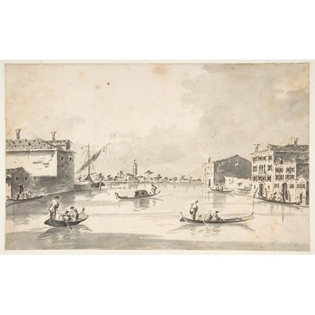 The Island Of Burano Poster Print By Giacomo Guardi  Italian Venice 1764   1835 Venice    18 X 24
