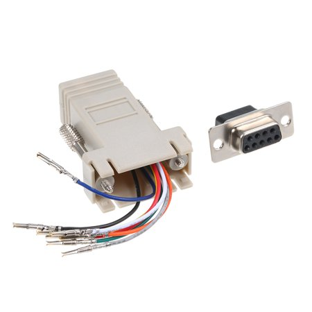 RJ45 to Serial Port Female to DB 9PIN Adapter 8P8C Module Modem Connector - image 4 de 7