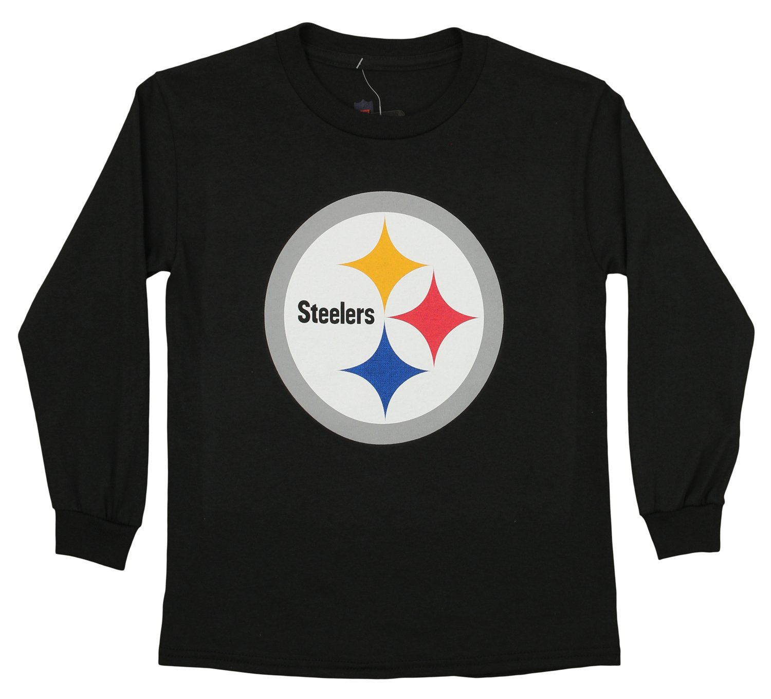 Outerstuff NFL Youth Pittsburgh Steelers Long Sleeve Team Logo Tee