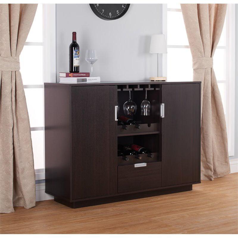 Furniture of America Porter Modern Wine Rack Buffet in Espresso by Furniture of America