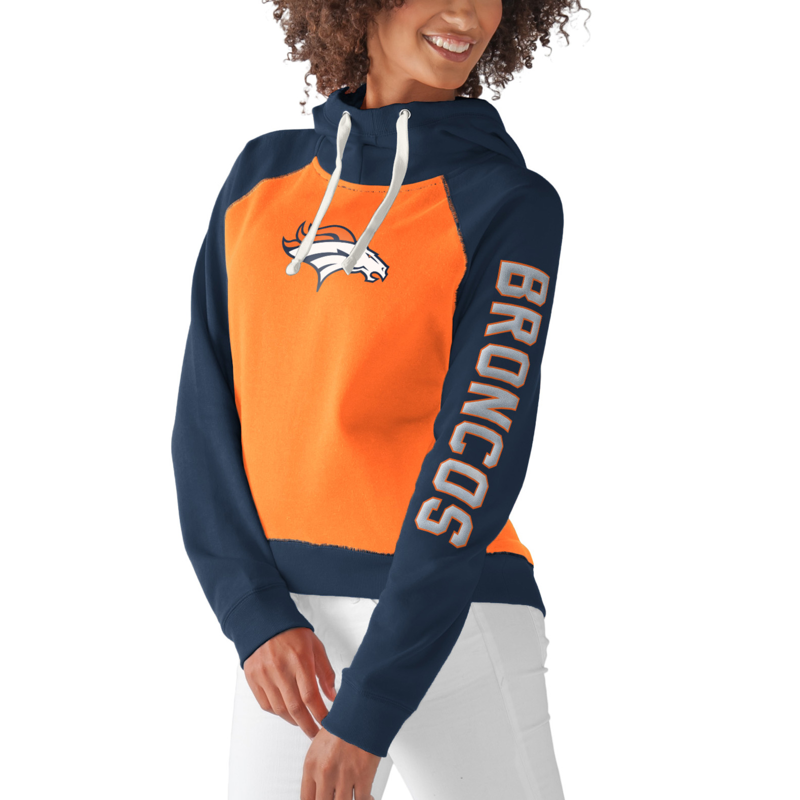 Denver Broncos G-III 4Her by Carl Banks Women's Scrimmage Pullover Hoodie - Orange