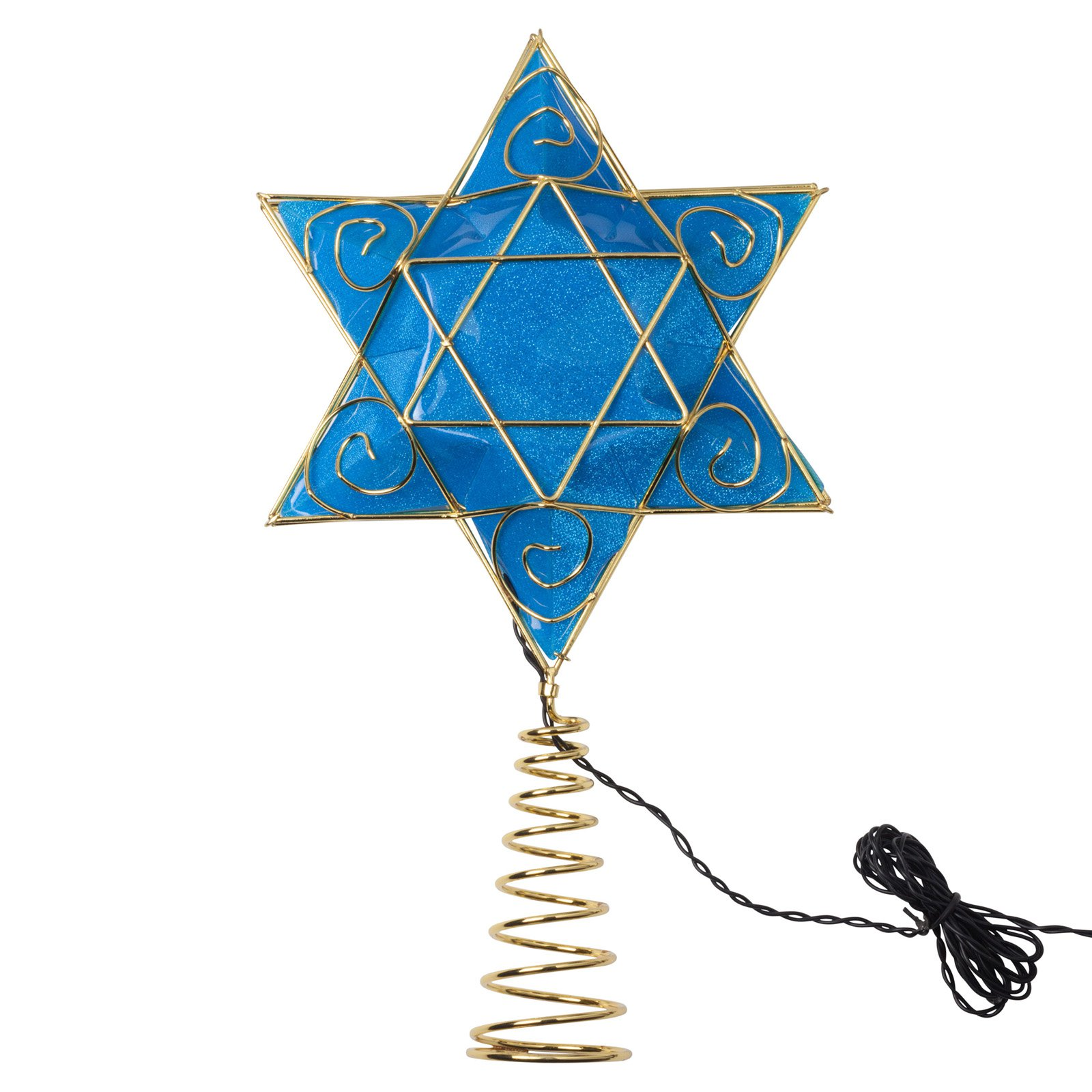 Kurt Adler 13 in. Battery-Operated Hanukkah Tree Topper