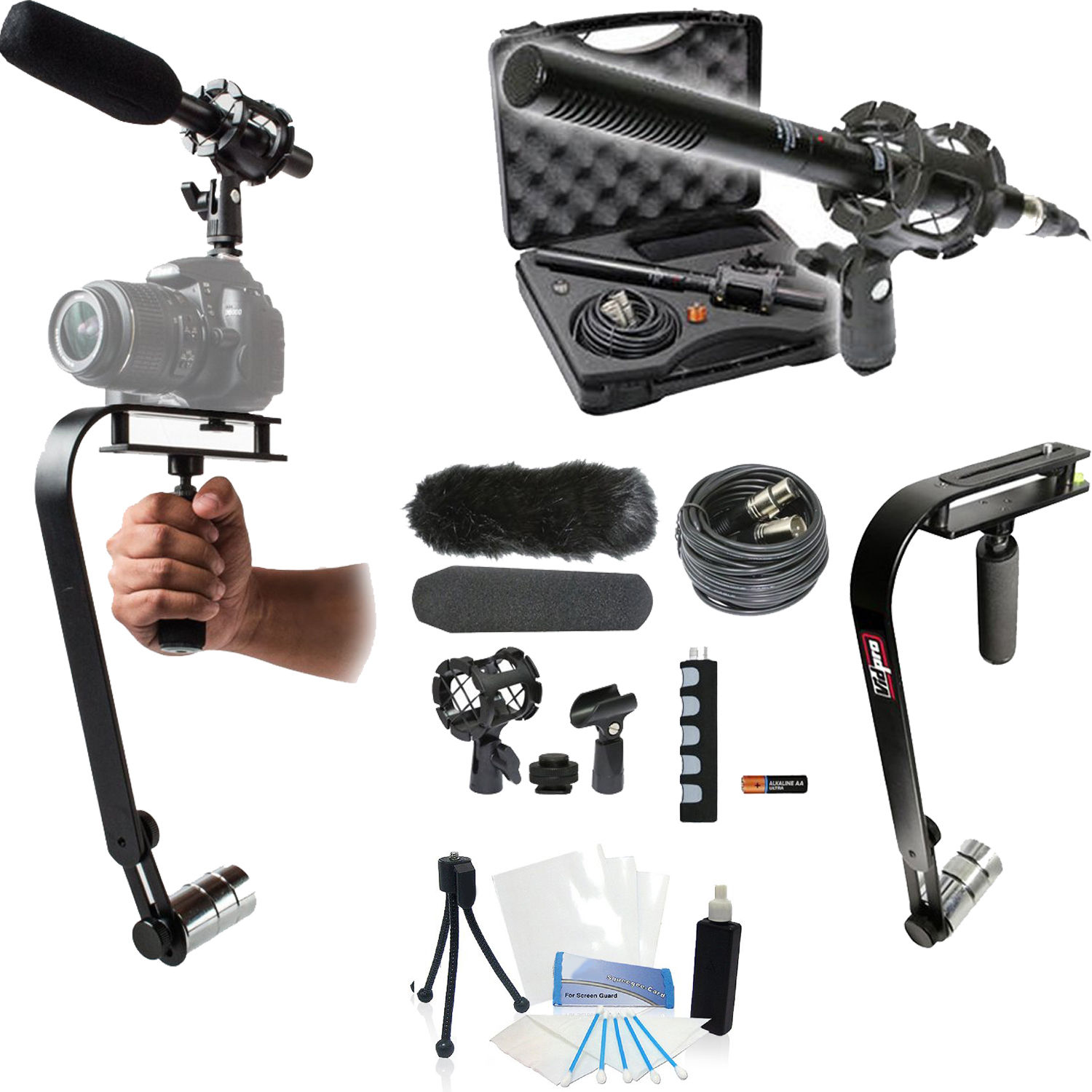 15-Piece Video Microphone Movie Bundle for Canon T6i Cameras