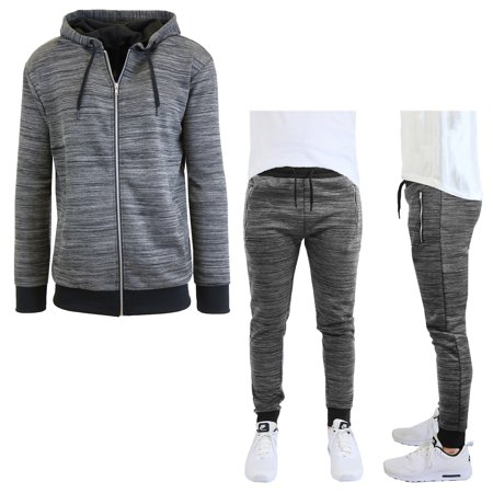 Men's Marled Tech Fleece Stretch Hoodie & Jogger Set