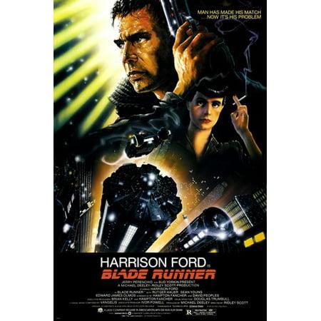 Blade Runner Movie Poster 24X36 Ridley Scott Starring Harrison