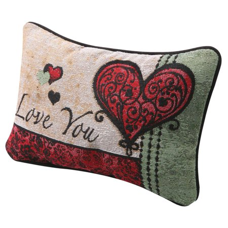 I Love You I Love You More Pillow - Woven Tapestry - Reversible Love Messages ()