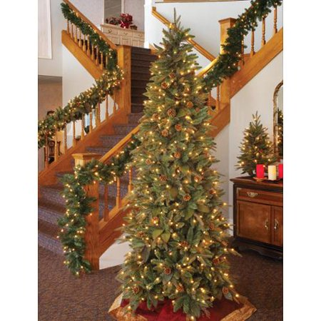 gki bethlehem 65 green river spruce slim pre lit christmas tree
