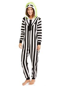 ca60fddff601 Beetlejuice Women s Sleepwear Onesie Costume Union Suit Pajama