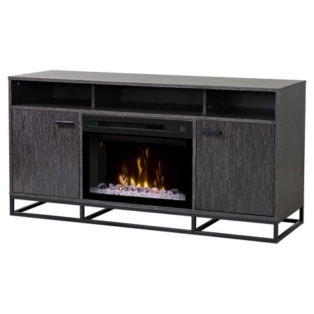 Dimplex Reily Electric Fireplace Media Console Gray Cerused