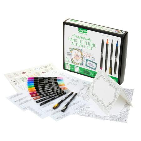 Crayola #Crayoligraphy 45 Piece Hand Lettering Activity - Crayola Sets