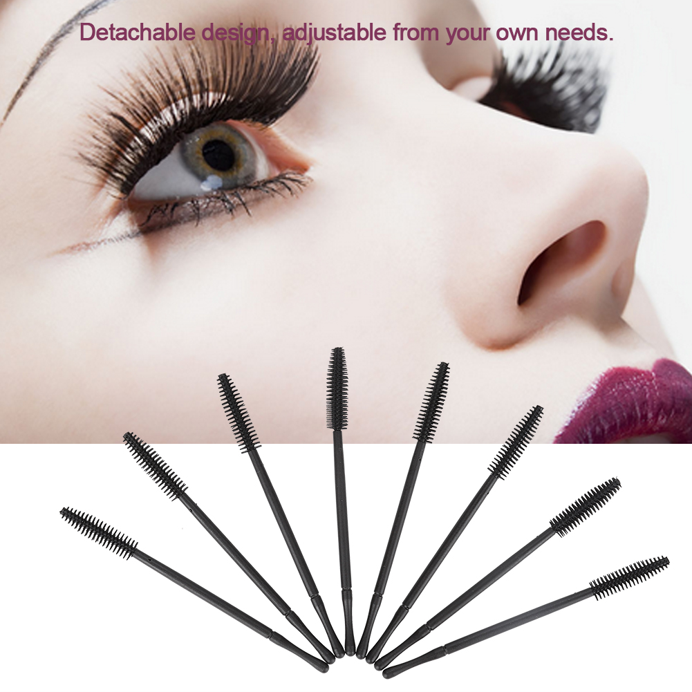 EECOO Eyelash Comb Makeup Brushes,50pcs Silicone Eyelash Brush Disposable Eyelashes Comb Mascara Applicator Makeup Beauty Tool