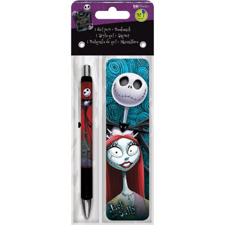 Gel Pen + Bookmark - Nightmare Before Christmas - Packs Toys Gifts Set Stationery New iw3520 - Christmas Pens