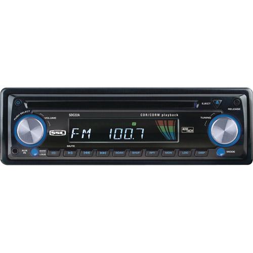 SOUNDSTORM SDC22A Single-DIN In-Dash CD Receiver