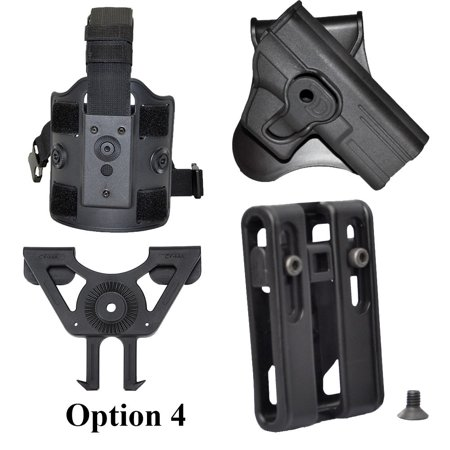 Tactical Scorpion Hi-Point .40SW  Modular Level II Retention Paddle Holster Dual Retention Tactical Holster