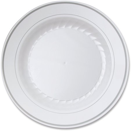 Masterpiece WNA Comet Round Plate, White, 10 / Pack (Quantity)