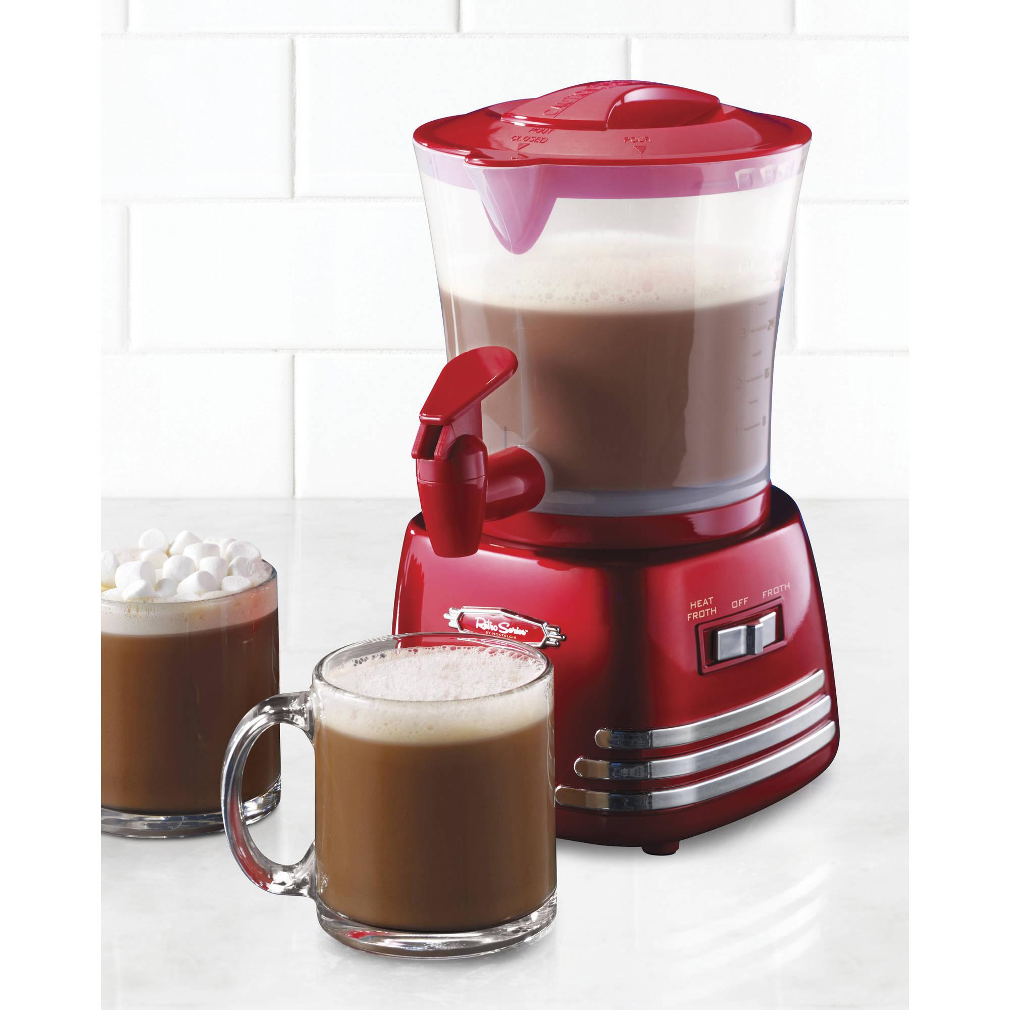 Nostalgia HCM700RETRORED Retro Series 32 oz Hot Chocolate Maker with Easy Pour Spigot