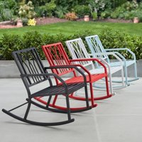 Mainstays Marna Outdoor Metal Rocking Chair, Multiple Colors