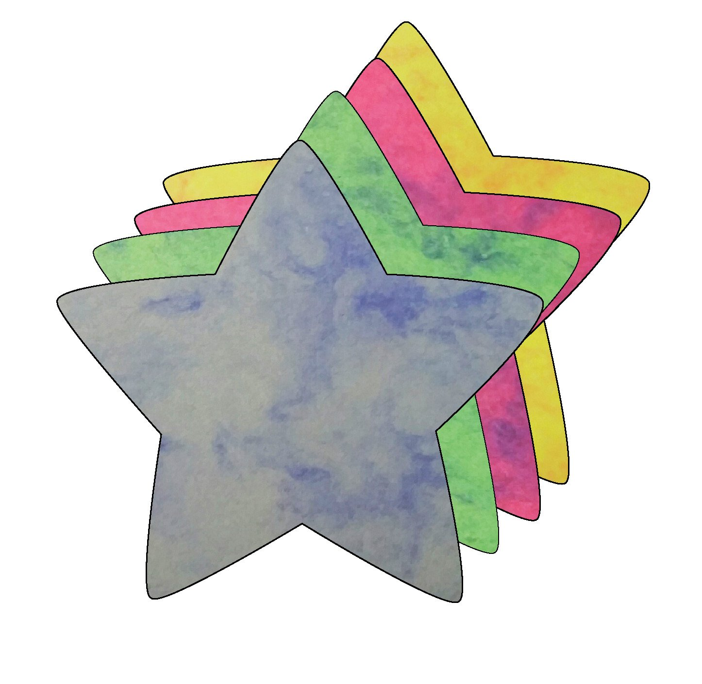Small Marble Assorted Cut-Out - Star