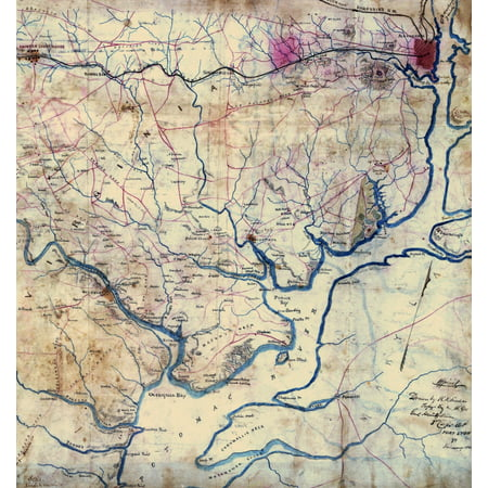 Map of the Potomac River Va  from Alexandria to below the Occoquan  Map of the Potomac River Va  from Alexandria to below the Occoquan Poster Print by (Map Of Potomac Mills)