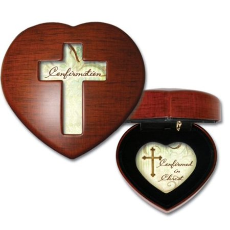 Confirmation Woodgrain Inspirational Cottage Garden Traditional Petite Heart Music Box Plays Friend in Jesus