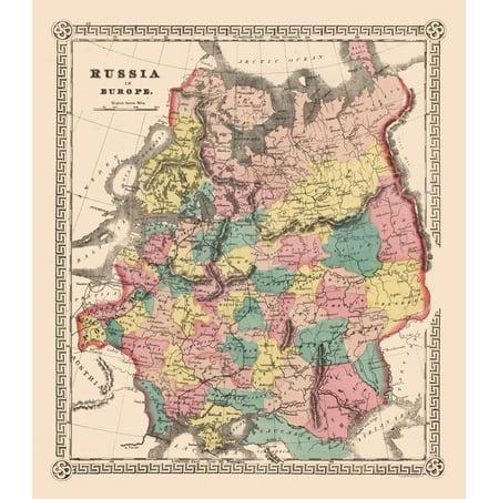 International Map European Russia 23 X 26 40 Walmart Com