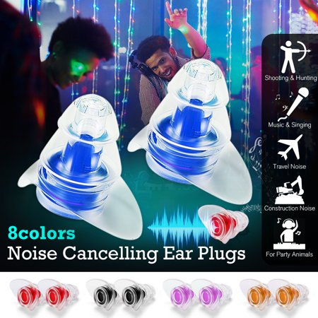 Noise Cancelling Earplugs Hearing Protection 20DB for Shooting,Motorcycles,Concerts,Musicians,Sleeping,Working,Studying and Air Travelling (Fake Safety Earplugs)