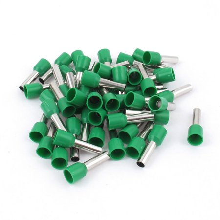 Unique Bargains 50 Pcs Wire Crimp Connector Terminal Pre Insulated Ferrule Green E6012 10AWG (10awg Terminal)