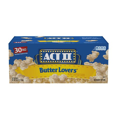 Bulk Popcorn (Product of Act II Butter Lovers Microwave Popcorn (3 oz., 30 bags) - Popcorn [Bulk)