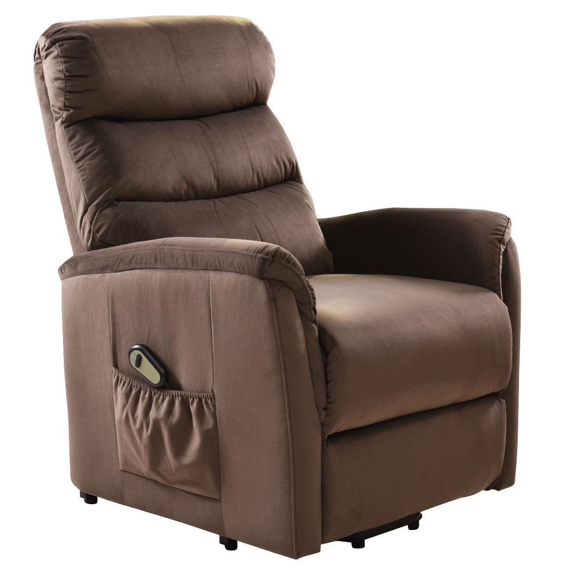 Costway Electric Lift Chair Recliner Reclining Chair Remote Living Room Furniture New by Costway