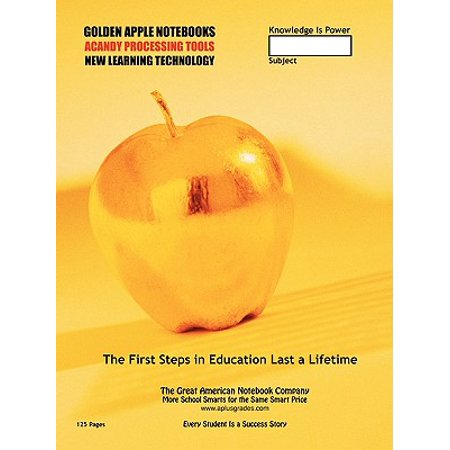 Back to School Supplies - World Premiere! the Golden Apple (125 Pages) : 40 Smartgrades School Notebooks for Class Notes and Test Review Notes (Free (Best In Class School Supplies Coupon)