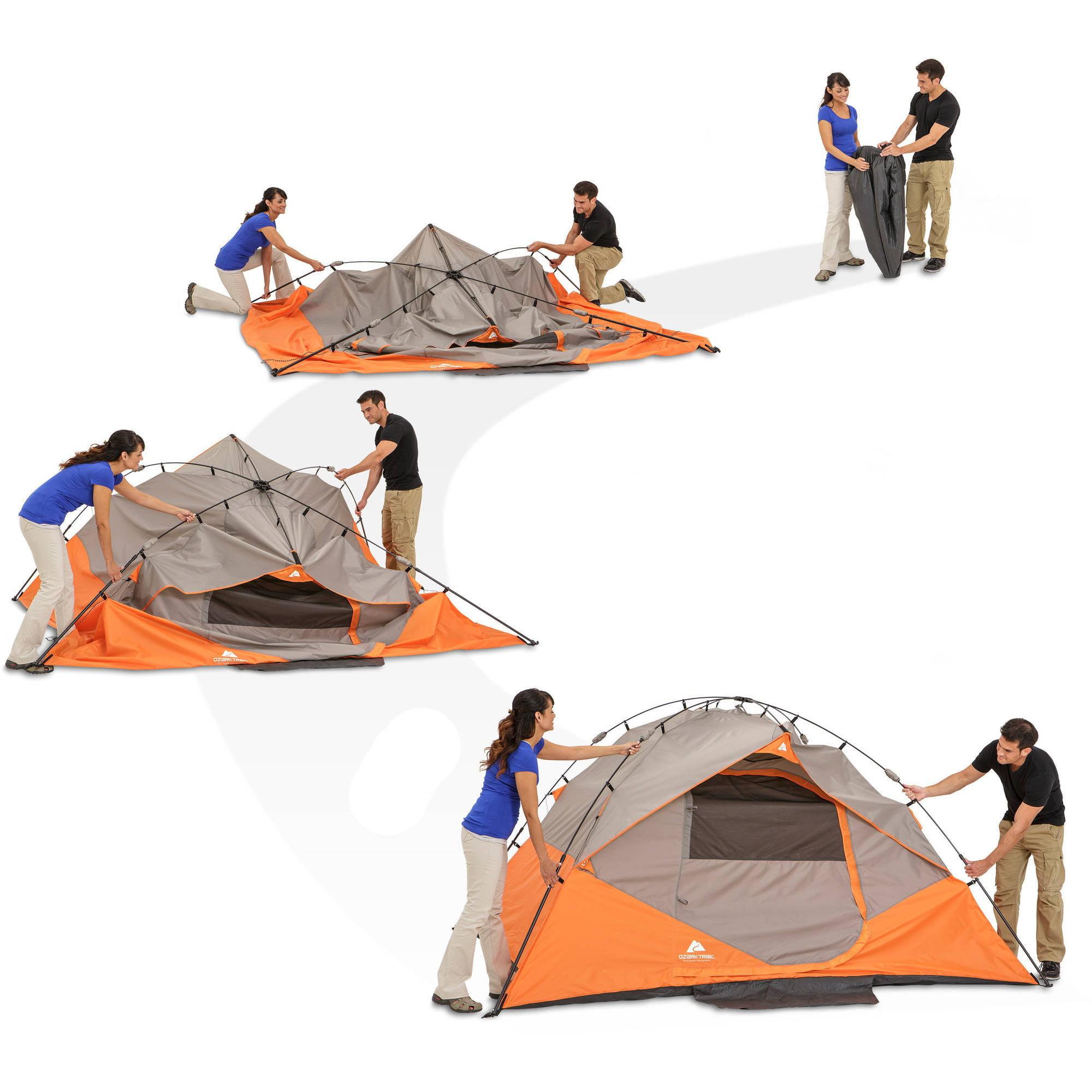 sc 1 st  Walmart & Ozark Trail Instant 10u0027 x 9u0027 Dome Camping Tent Sleeps 6 - Walmart.com